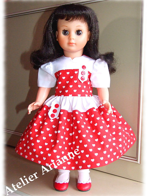 Tenue Marina pour poupées Modes et Travaux, Marie-Françoise