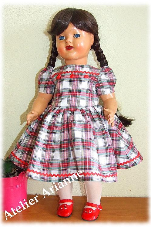 Tenue Léonie pour poupée Raynal ,Petit Fille 46 cm, Gotz, Journey 45-50 cm