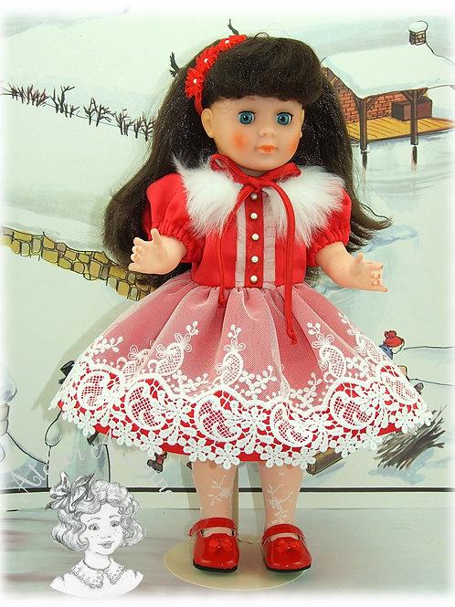 Modèle exclusif - Tenue Marie-Noëlle pour poupée Marie-Françoise