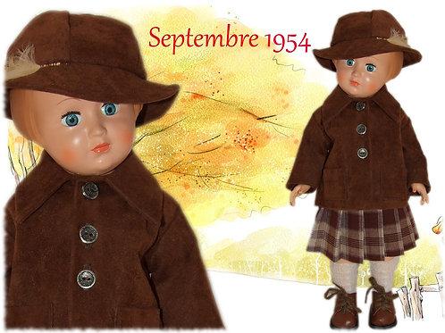 Tenue poupée Modes et Travaux pour Françoise Septembre 1954