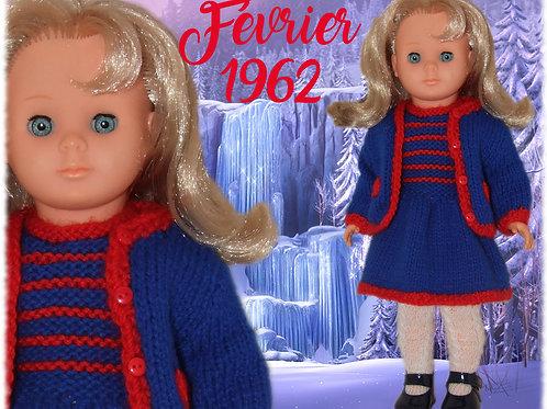 Tenue pour poupée Françoise Modes et Travaux Février 1962