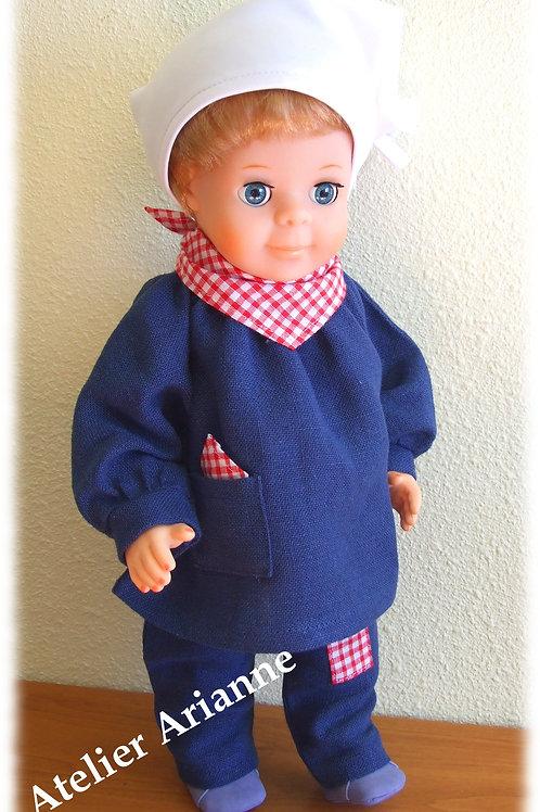 Tenue pour poupée  Jean-Michel Modes et Travaux Février 1979