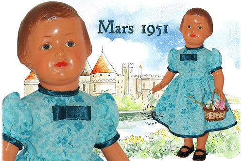 Robe Françoise Bleu turquoise Mars 1951