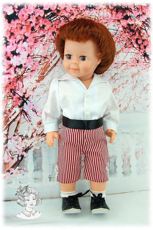 Juin 1982-Tenue pour poupée Jean-Michel de Modes et Travaux