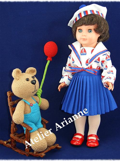 Tenue pour poupée Marie-Françoise Modes et Travaux Septembre 1953
