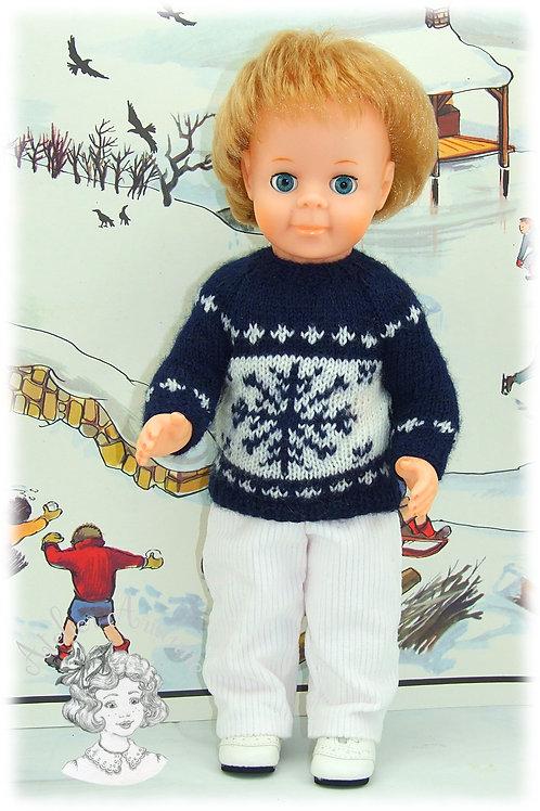 Tenue Flocon de Neige pour poupée Jean-Michel Modes et Travaux