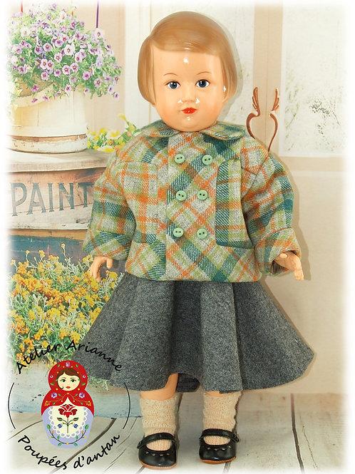 Veste Avril 1957 Tenue Modes et Travaux pour poupée Françoise