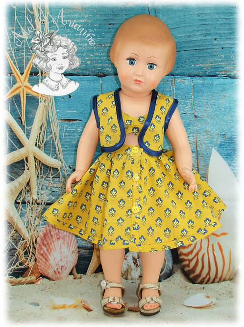 Juillet 1955 Tenue pour poupée Françoise Modes et Travaux
