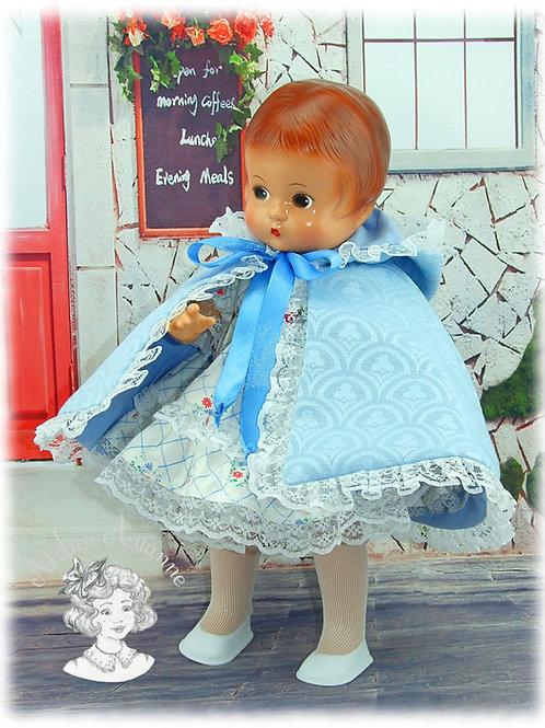 Opaline-cape pour poupée Patsy 33 cm, Bombon 30 cm et autres poupettes 30-35 cm