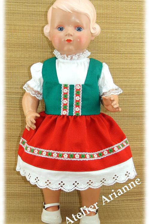 Tenue Gabriella pour poupée Schildkrot 46 cm et Gege, Bella , Raynal 45-50 cm