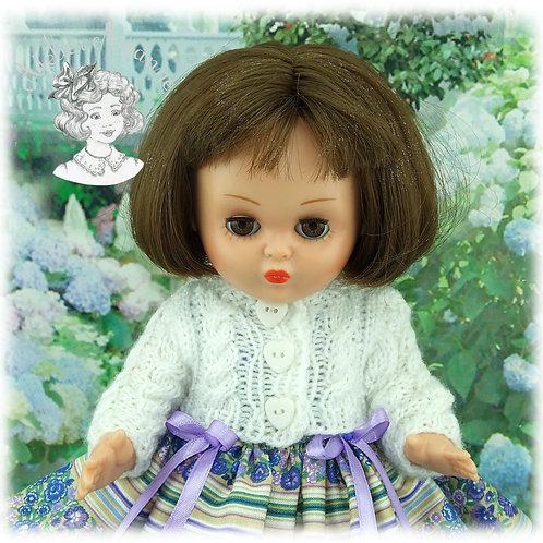 Gilet assorti à la robe Ninette pour poupée Bombon
