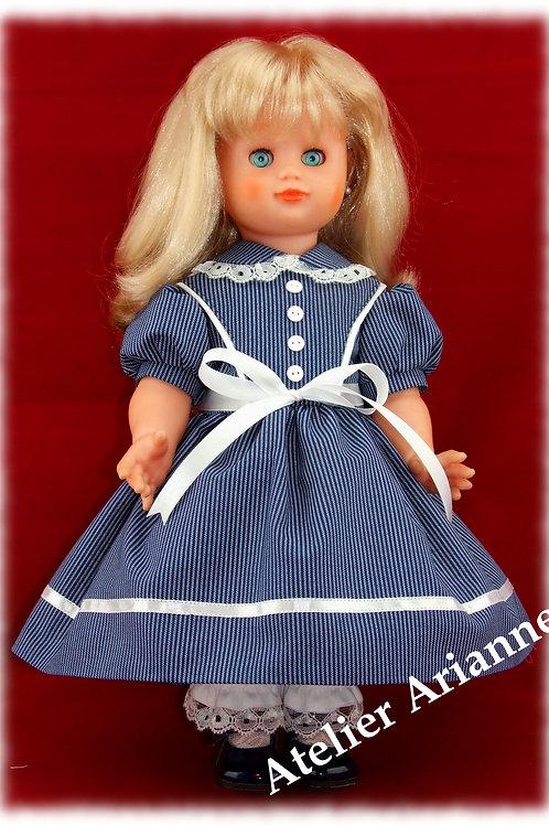 Tenue Lison pour poupée Emilie, Marie-Françoise, SFBJ 45 cm ou d'autres 40
