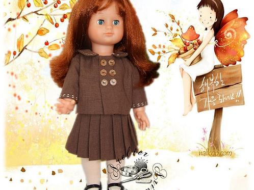 Tenue pour poupée Emilie Modes et Travaux Mai 1956