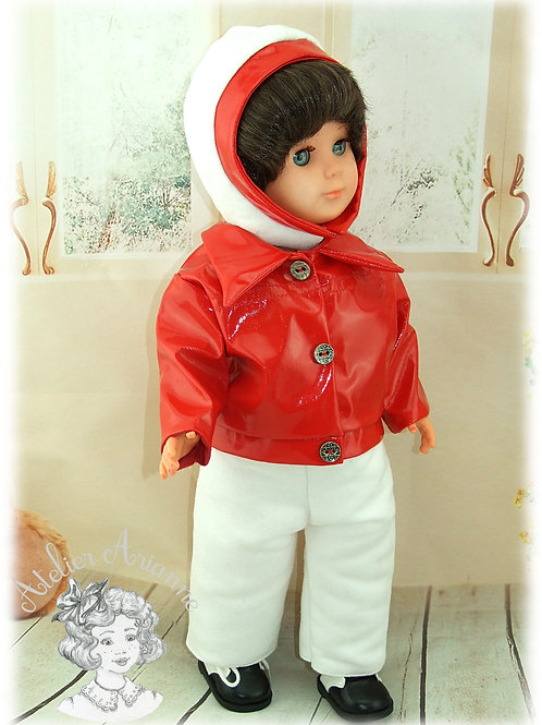 Tenue pour poupée Marie-Françoise de Modes et Travaux Décembre 1970