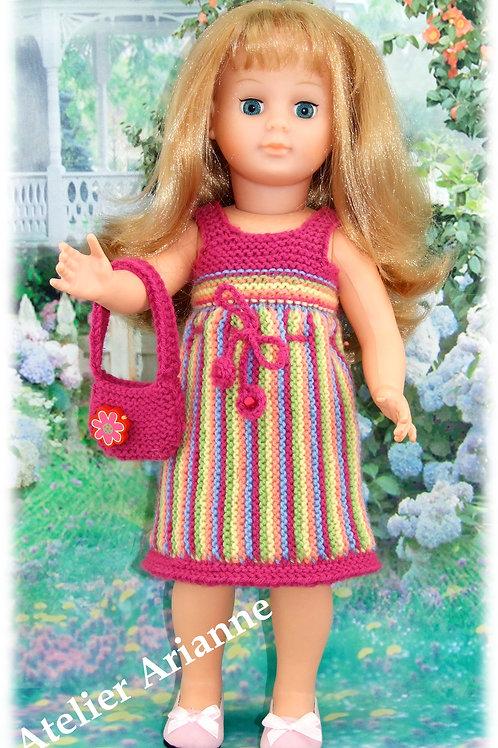 Tenue Cassis tricot pour poupée Marie-Françoise Modes et Travaux