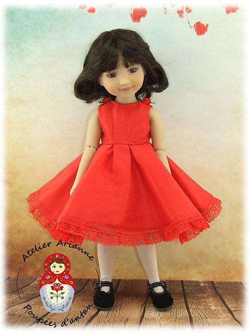 """La """"Petite Robe Rouge"""" Tenue pour poupée  Ruby Red"""