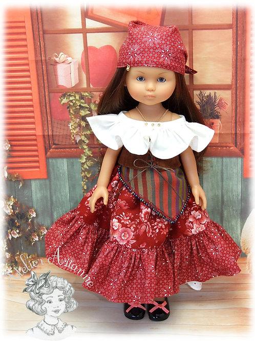Pièce unique- tenue Esmeralda pour poupée Corolle et Paola Reina