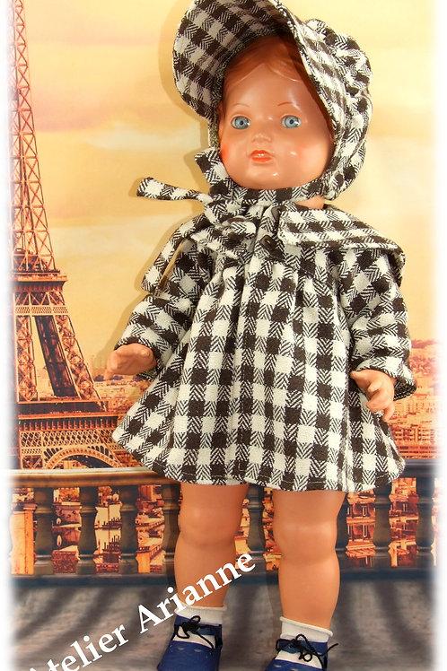 Tenue Bettina pour  baigneurs 40 cm et poupées 42-45 cm