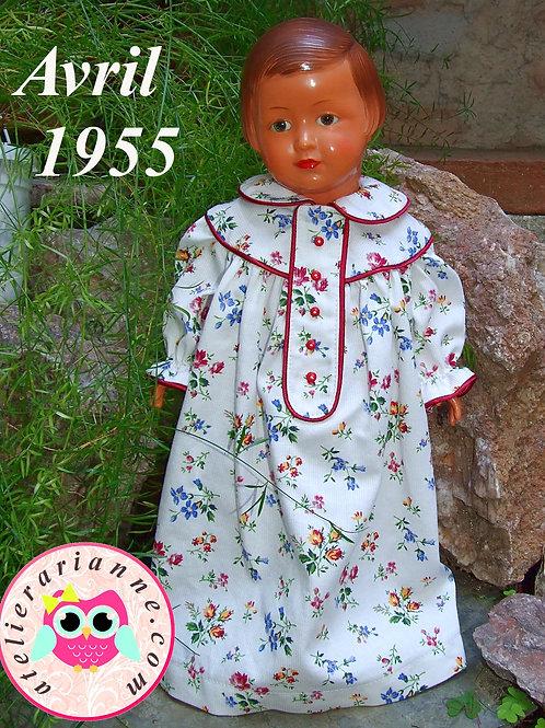 Tenue pour poupée Françoise Modes et Travaux Avril 1955