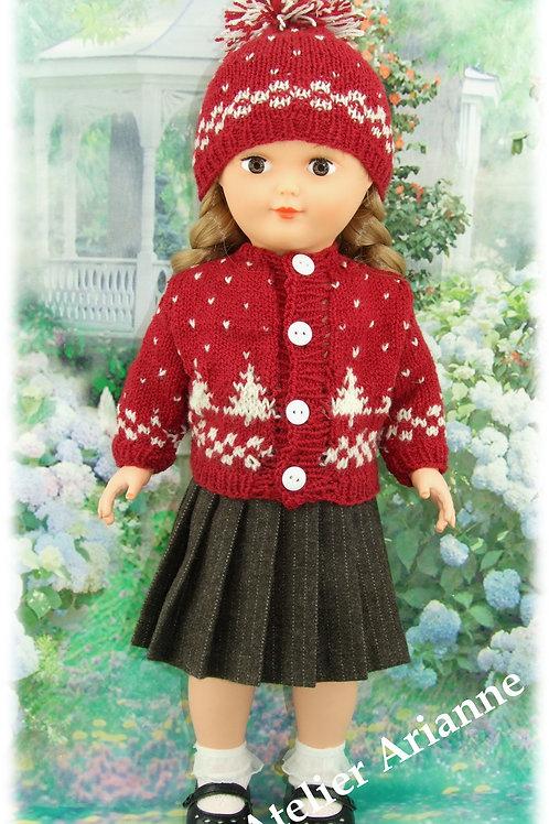 Tenue Ines tricot, couture pour poupée Marie-Françoise Modes et Travaux