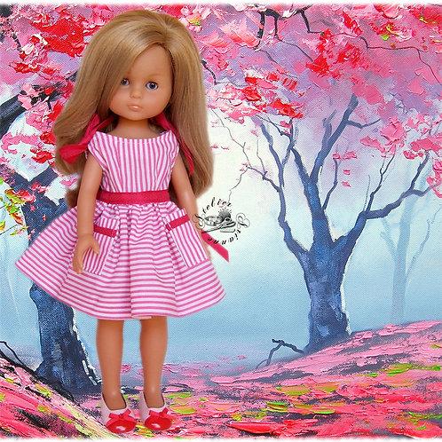 Tenue Rayures pour poupée Corolle ou Paola Reina 33 cm