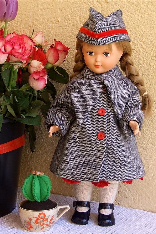 Tenue ''Marianne''  pour poupée Marie -Françoise Modes et Travaux