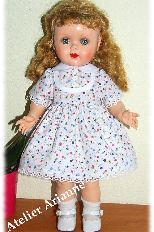 Robe Kecy Reproduction d'une tenue d'origine pour poupée Raynal de 43 cm