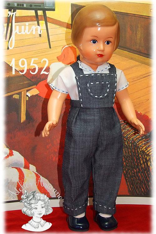 Tenue pour poupée Marie-Françoise Modes et Travaux Juin 1952