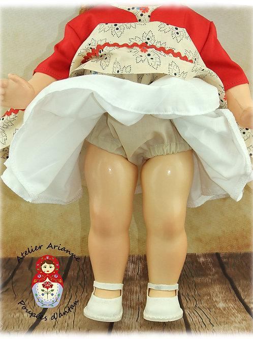 Maria culotte  pour poupée Bella 38 cm