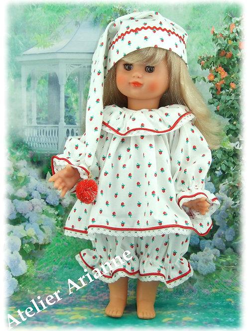 Tenue pyjama pour poupée Emilie Modes et Travaux Décembre 1989