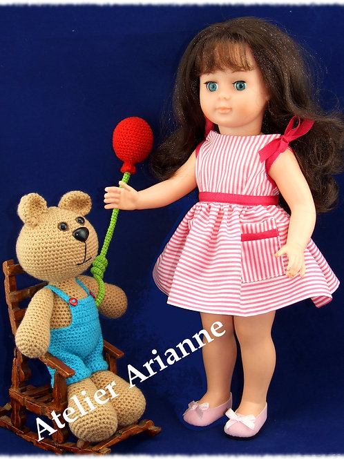 Tenue pour poupée Françoise Modes et Travaux Juillet 1963