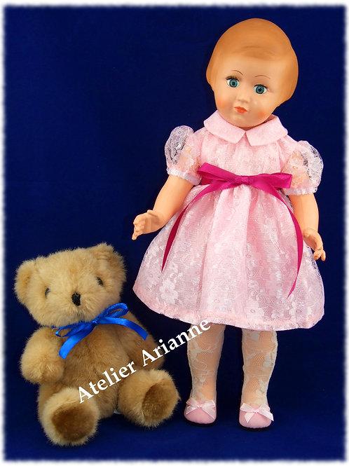 Tenue pour poupée Marie- Françoise, Francette Modes et Travaux Juin 1958