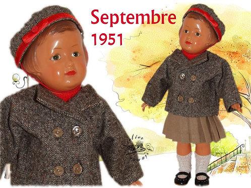 Commande pour Nathalie Tenue pour poupée Françoise M et T Septembre 1951