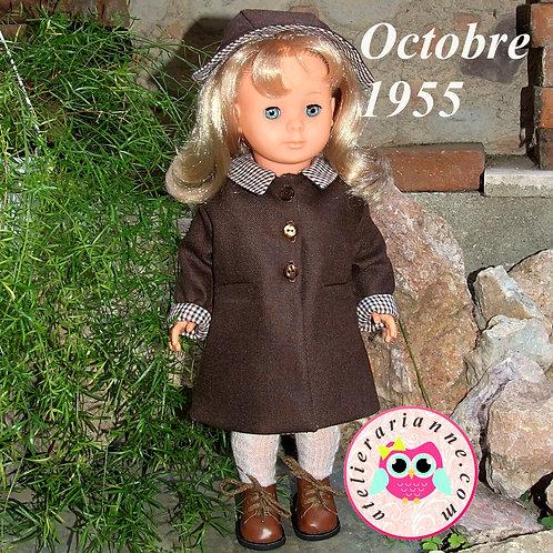 Tenue pour poupée Françoise Modes et Travaux Octobre 1955