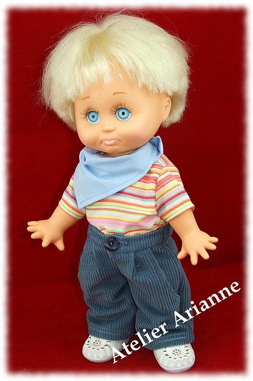 Tenue Adrien pour poupée Muller Witchel 31 cm ou baby Face 33 cm