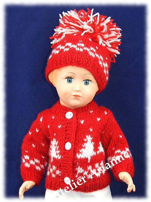 Tenue Inès tricot pour poupées de  Modes et Travaux