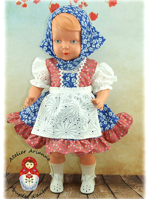 Berta Reproduction de la tenue originale  pour poupée Schildkröt