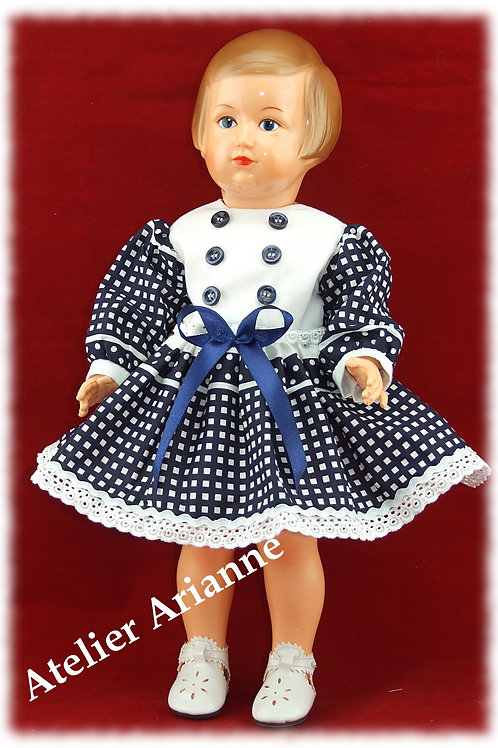 Tenue Daphné  pour poupées Modes et Travaux: Françoise, Francette autres 40 cm