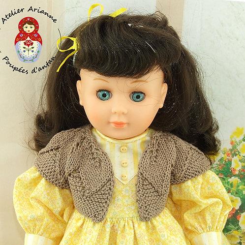 Gilet Lulotte - tenue pour poupée Marie Françoise