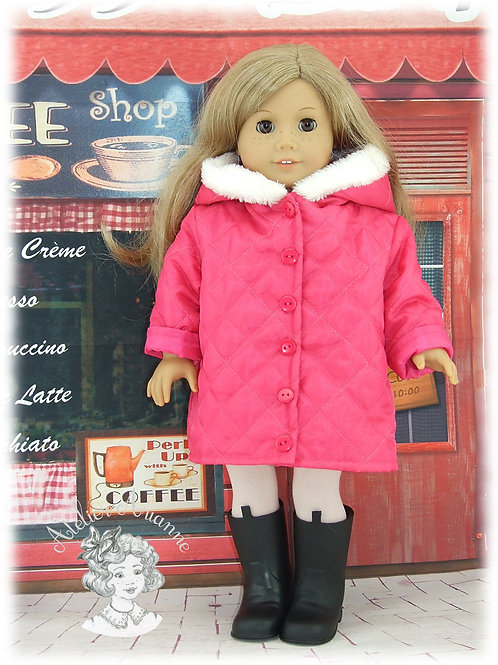 Anorak Pauline pour poupée American Girl