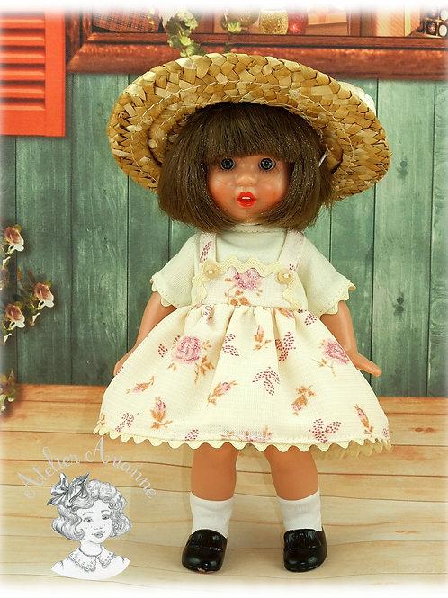 Tenue Ninette + chapeau pour poupée Mini Mariquita de 20 cm