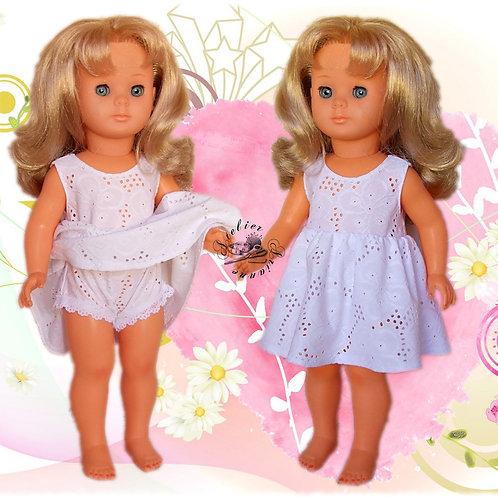 Tenue pour poupée Emilie, Marie-Françoise Modes et Travaux