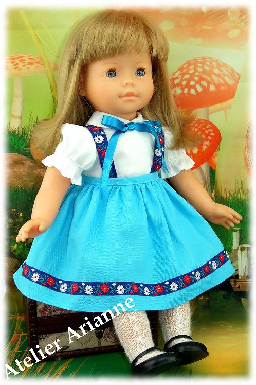 Tenue Astrid pour poupée Corolle 42 cm, Schildkrot 42 et autres poupées de 42-43