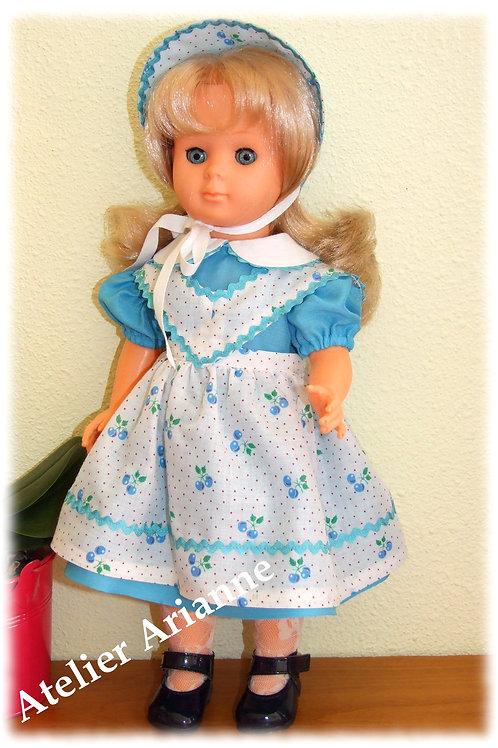 Tenue septembre 1957 et décembre 1951 pour poupées Modes et Travaux