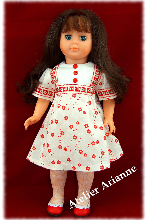 Tenue pour poupée Françoise , Francette de Modes et Travaux Octobre 1976