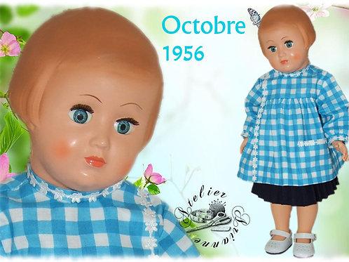 Commande pour Roselyne Tenue pour poupée Françoise Modes et Travaux Octobre 1956