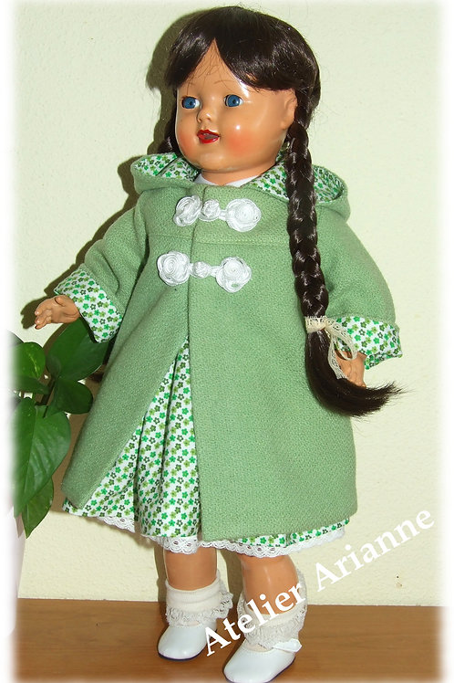 Manteau Enny pour poupée Raynal 48 cm en rhodoïd