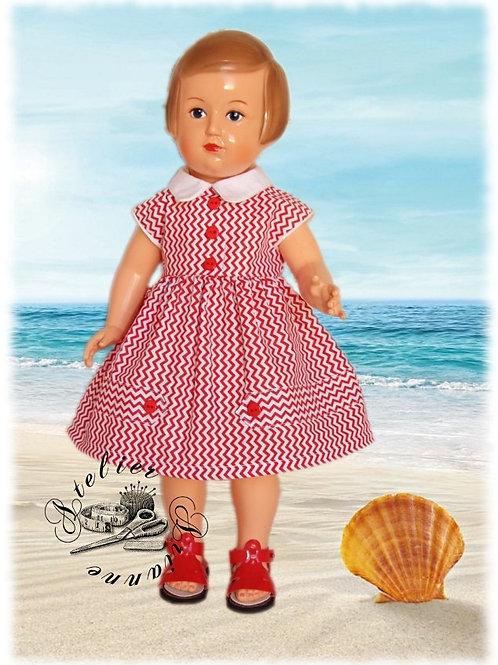 Tenue poupée Modes et Travaux pour Françoise Juin 1957