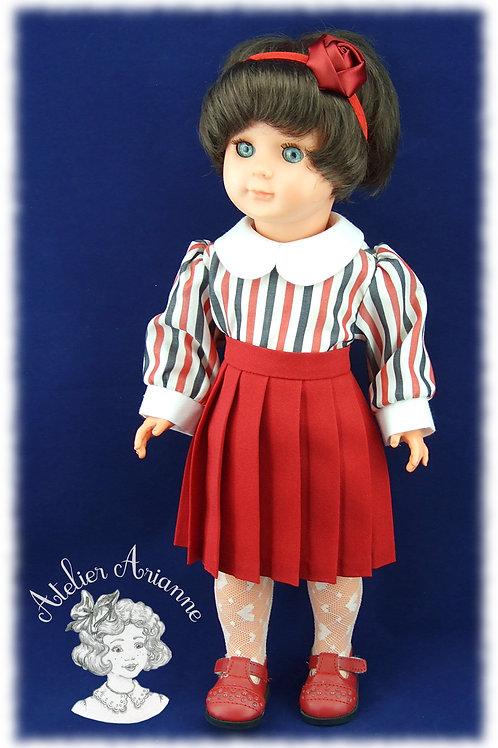 Chemise à manches bouffantes pour poupées Emilie