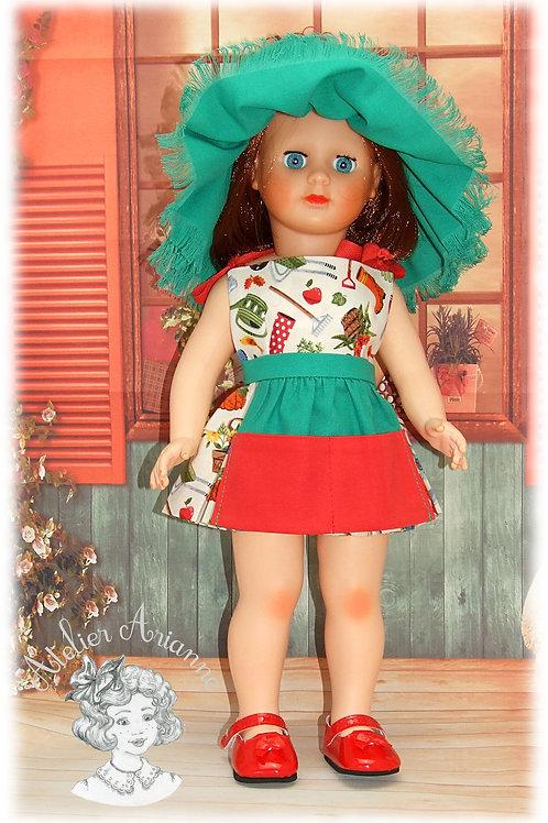 Mai 1963 Tenue pour poupée Marie-Françoise de Modes et Travaux